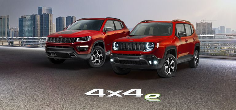 Jeep Renegade u. Compass als Plug-In-Hybrid 4x4e
